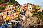 Afternoon light on Manarola, Cinque Terre, Liguria, Italy