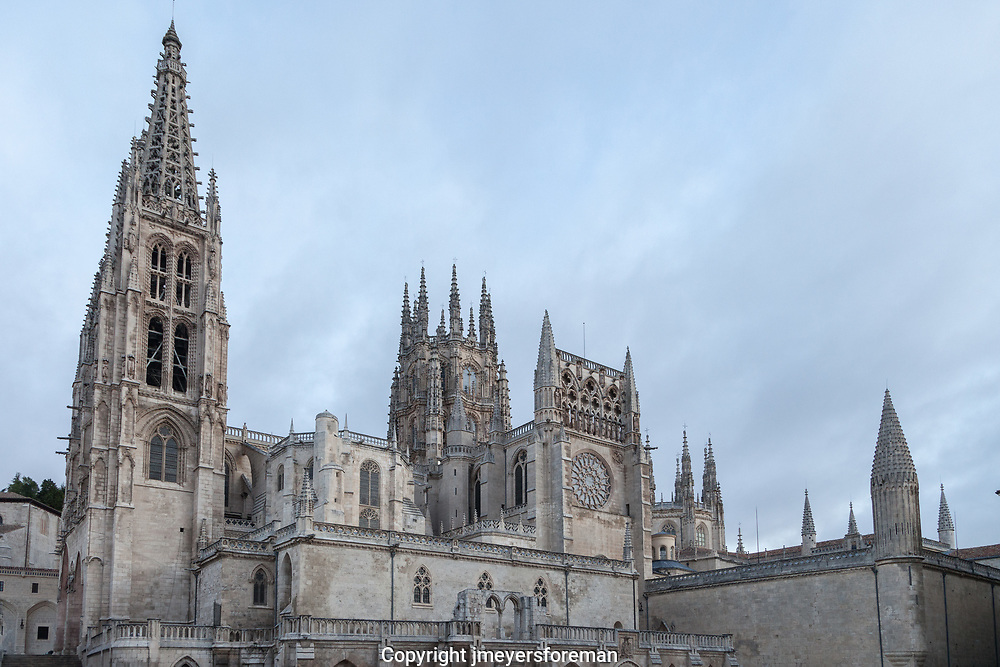 The Burgos Cathedral, the historic landmark and tourist attraction