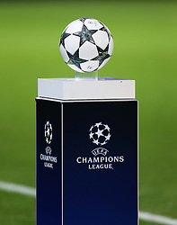 The UEFA Champions League ball sits on the plinth before kick off - Mandatory by-line: Matt McNulty/JMP - 27/09/2016 - FOOTBALL - King Power Stadium - Leicester, England - Leicester City v FC Porto - UEFA Champions League