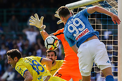 April 8, 2018 - Naples, Italy - Arkadiusz Milik (SSC Napoli)..during the Italian Serie A football SSC Napoli v Chievo Verona at S. Paolo Stadium..in Naples on April 08, 2018  (Credit Image: © Paolo Manzo/NurPhoto via ZUMA Press)