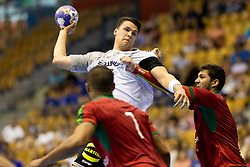 Fredrik Simak of Germany during handball match between National teams of Germany and Portugal in game for Third place of 2018 EHF U20 Men's European Championship, on July 29, 2018 in Arena Zlatorog, Celje, Slovenia. Photo by Urban Urbanc / Sportida