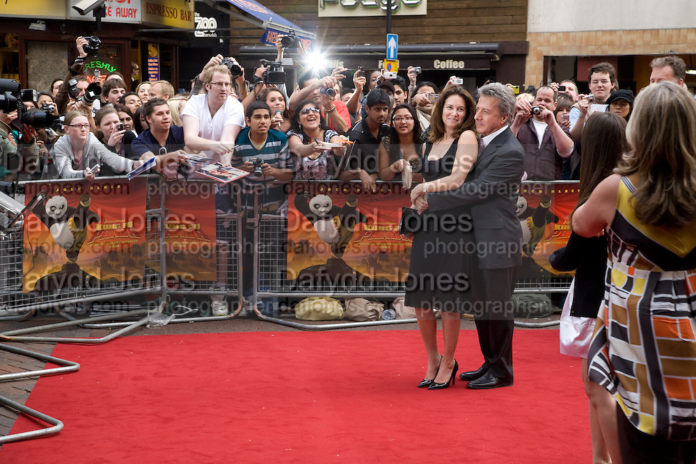 Dustin Hoffman; Gottsegen Hoffman, Film premiere of Kung Fu Panda. Vue West End. Leicester Sq. London. 26 June 2008.  *** Local Caption *** -DO NOT ARCHIVE-© Copyright Photograph by Dafydd Jones. 248 Clapham Rd. London SW9 0PZ. Tel 0207 820 0771. www.dafjones.com.
