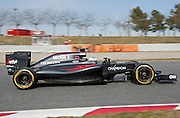 March 1, 2016 - Barcelona, Spain - <br /> <br /> BARCELONA -march 01- SPAIN: Fernando Alonso and McLaren during the F1 tests in the Barcelona-Catalunya Circuit, on march 01, 2016. <br /> ©Exclusivepix Media