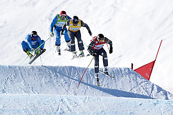 07.03.2014, Carmenna Extrempark, Arosa, SUI, FIS Weltcup Ski Cross, Arosa, im Bild David Duncan (CAN), Mathieu Leduc (CAN), Andreas Matt (AUT), Patrick Koller (AUT) // during the FIS Ski Cross World Cup Carmenna Extrempark in Arosa, Switzerland on 2014/03/07. EXPA Pictures © 2014, PhotoCredit: EXPA/ Freshfocus/ Andy Mueller<br /> <br /> *****ATTENTION - for AUT, SLO, CRO, SRB, BIH, MAZ only*****