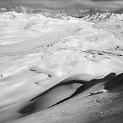 Miles Clark skis Nadahini Mountain, in British Columbia's Tatsenshini-Alsek Provincial Park