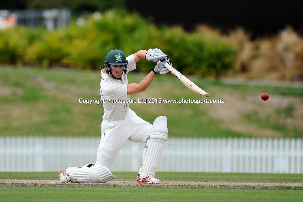 Central player Will Young during their Plunket Shield match Central Stags v Canterbury at Saxton Oval, Nelson, New Zealand. Friday 20 March 2015. Copyright Photo: Chris Symes / www.photosport.co.nz