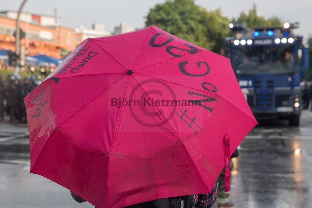 Hamburg, Germany - 07.07.2017<br /> <br /> No G20-protests in Hamburg<br /> <br /> Anti-G20 Proteste in Hamburg<br /> <br /> Photo: Bjoern Kietzmann