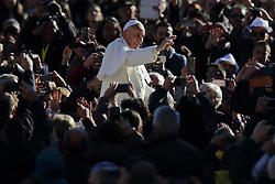 November 9, 2016 - Vatican City State (Holy See) - POPE FRANCIS during his wednesday general audience in St. Peter's Square at the Vatican. (Credit Image: © Evandro Inetti via ZUMA Wire)