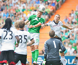 "28.07.2013, Weserstadion, Bremen, GER, 1.FBL, ""Tag der Fans 2013"" des SV Werder Bremen, Testspiel SV Werder Bremen vs Fulham FC, im Bild Sebastian Prödl / Proedl (Bremen #15) beim Kopfball // during the ""Tag der Fans 2013"" of the German Bundesliga Club SV Werder Bremen at the Weserstadion, Bremen, Germany on 2013/07/28. EXPA Pictures ¬© 2013, PhotoCredit EXPA Andreas Gumz ***** ATTENTION - OUT OF GER *****"