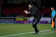 Lincoln City manager Danny Cowley during the EFL Sky Bet League 2 match between Swindon Town and Lincoln City at the County Ground, Swindon, England on 12 January 2019.