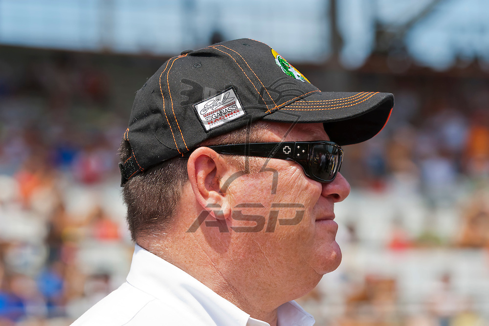 INDIANPOLIS, IN - JUL 29, 2012: Car owner, Chip Ganassi, prepares to run the Sprint Cup Series race at the Indianapolis Motor Speedway in Indianapolis, IN.