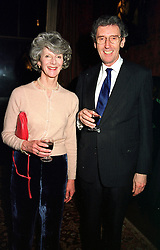 LORD & LADY HOWELL at a reception in London on 15th February 2000.OAZ 15