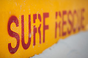Surf rescue sign on the beach