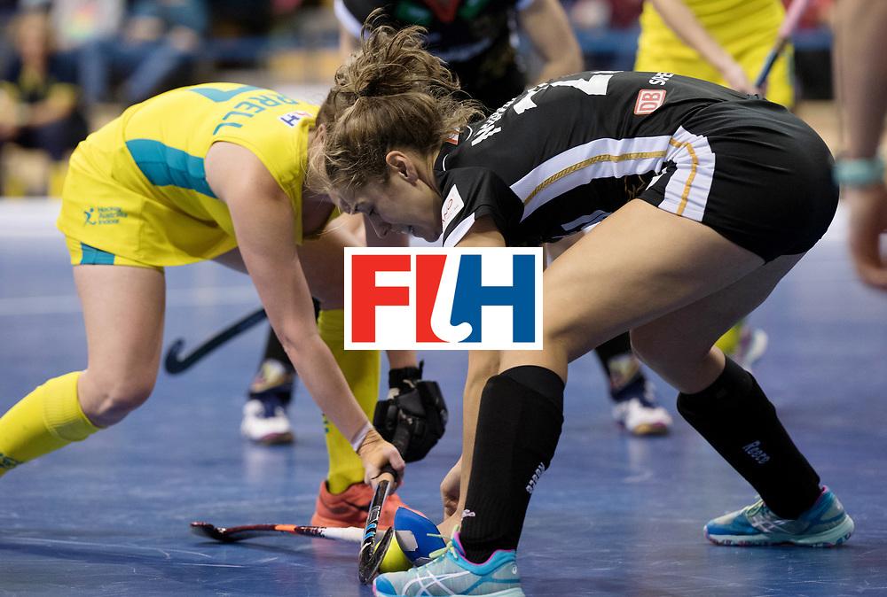BERLIN - Indoor Hockey World Cup<br /> Women: Germany  - Australia<br /> foto: Marie M&auml;vers.<br /> WORLDSPORTPICS COPYRIGHT FRANK UIJLENBROEK