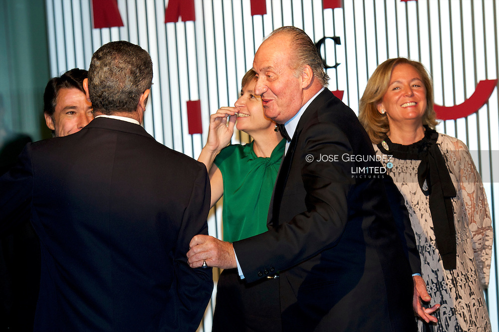 "King Juan Carlos and Queen Sofia attended the Dinner in honor of the award winner ""Mariano de Cavia,"" Luca de Tena ""and"" Mingote ""and inauguration of the ABC Museum at ABC Museum in Madrid"