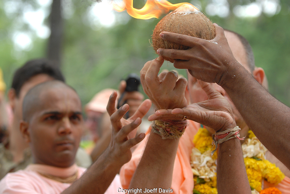 Atlanta's Hare Krishnas celebrated Rathayatra and Panihati Festival with dance, live music, traditional vegetarian fare and chanting in the streets of Little Five Points.