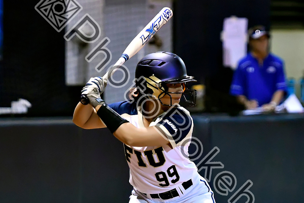 2018 February 09 - FIU's Natane Castaneda (99). Florida International University softball fell to Hofstra, 5-0, at Felsberg Field, Miami, Florida. (Photo by: Alex J. Hernandez / photobokeh.com) This image is copyright by PhotoBokeh.com and may not be reproduced or retransmitted without express written consent of PhotoBokeh.com. ©2018 PhotoBokeh.com - All Rights Reserved