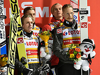 Hopp<br /> FIS World Cup<br /> Wisla Polen<br /> November 2017<br /> Foto: Gepa/Digitalsport<br /> NORWAY ONLY<br /> <br /> WISLA,POLAND,18.NOV.17 - NORDIC SKIING, SKI JUMPING - FIS World Cup, large hill, team event, men. Image shows Johann Andre Forfang, Anders Fennemel, Daniel Andre Tande and Robert Johansson (NOR). Photo: GEPA pictures/ Wrofoto/ Piotr Hawalej - ATTENTION - NO USAGE RIGHTS FOR POLISH CLIENTS.
