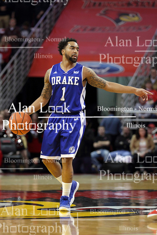 26 January 2016: Karl Madison(1) during the Illinois State Redbirds v Drake Bulldogs at Redbird Arena in Normal Illinois (Photo by Alan Look)