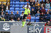 Brighton winger, Jamie Murphy scores to make it 2-0 to Brighton during the Sky Bet Championship match between Bolton Wanderers and Brighton and Hove Albion at the Macron Stadium, Bolton, England on 26 September 2015.
