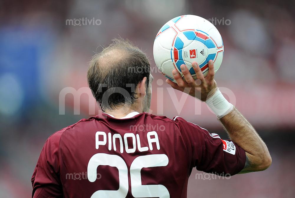 FUSSBALL   1. BUNDESLIGA  SAISON 2011/2012   2. Spieltag 1 FC Nuernberg - Hannover 96          13.08.2011 Javier Pinola  (1 FC Nuernberg)