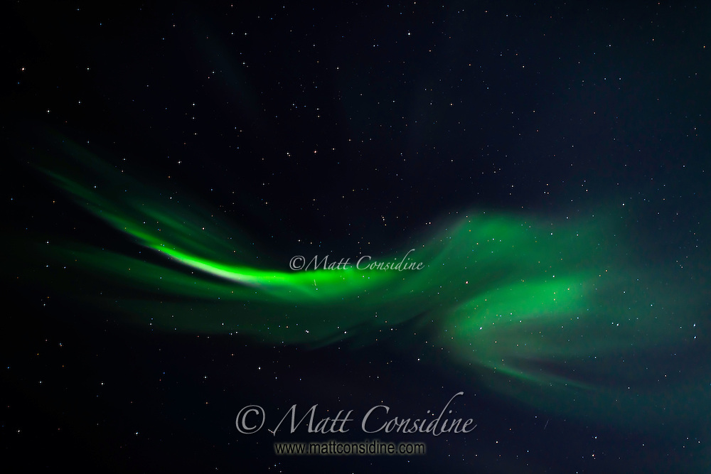 A whimsical exampleof the northern lights. (Photo by ?Travel Photographer Matt Considine)