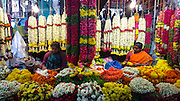 Flower market at Malleshwaram,Bangalore