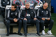 Manchester United Manager Jose Mourinho during the Premier League match between Brighton and Hove Albion and Manchester United at the American Express Community Stadium, Brighton and Hove, England on 4 May 2018. Picture by Phil Duncan.