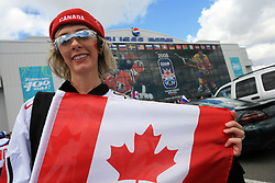 Fan of Canada before an ice-hockey game Canada vs Russia at finals of IIHF WC 2008 in Quebec City,  on May 18, 2008, in Colisee Pepsi, Quebec City, Quebec, Canada.  (Photo by Vid Ponikvar / Sportal Images)