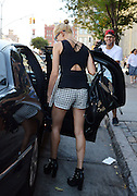 Sept. 4, 2014 - New York City, NY, United States - <br /> <br /> Hailey Baldwin leaves her apartment in Soho<br /> <br /> Model Hailey Baldwin leaves an apartment in Soho on September 4 2014 in New York City <br /> ©Exclusivepix