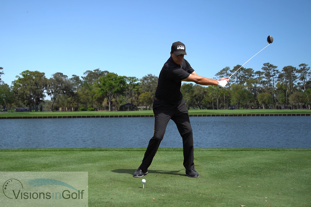 Phil Mickelson<br /> with driver face on<br /> High speed swing sequence<br /> 2019<br /> <br /> Pictures Credit: Mark Newcombe/visionsingolf.com