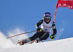 16.02.2017, St. Moritz, SUI, FIS Weltmeisterschaften Ski Alpin, St. Moritz 2017, Riesenslalom, Damen, 2. Lauf, im Bild Tessa Worley (FRA, Damen Riesenslalom Weltmeisterin und Goldmedaille) // ladie's Giant Slalom world Champion and Gold medalist Tessa Worley of France in action during her 2nd run of ladie's Giant Slalom of the FIS Ski World Championships 2017. St. Moritz, Switzerland on 2017/02/16. EXPA Pictures © 2017, PhotoCredit: EXPA/ Nisse Schmidt<br /> <br /> *****ATTENTION - OUT of SWE*****