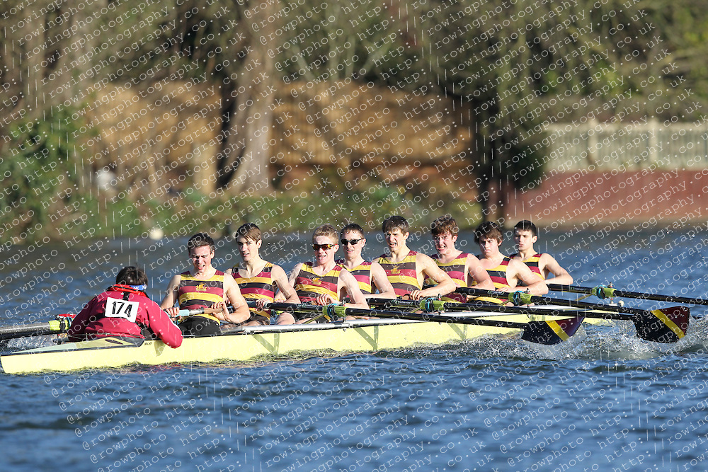 2012.02.25 Reading University Head 2012. The River Thames. Division 2. Shiplake College Boat Club A IM2 8+