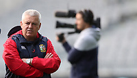Rugby Union - 2017 British & Irish Lions Tour of New Zealand - Captains Run - <br /> <br /> Warren Gatland Head Coach of The British and Irish Lions under the gaze of the media during the Captains run at Forsyth Barr Stadium, Dunedin.<br /> <br /> COLORSPORT/LYNNE CAMERON