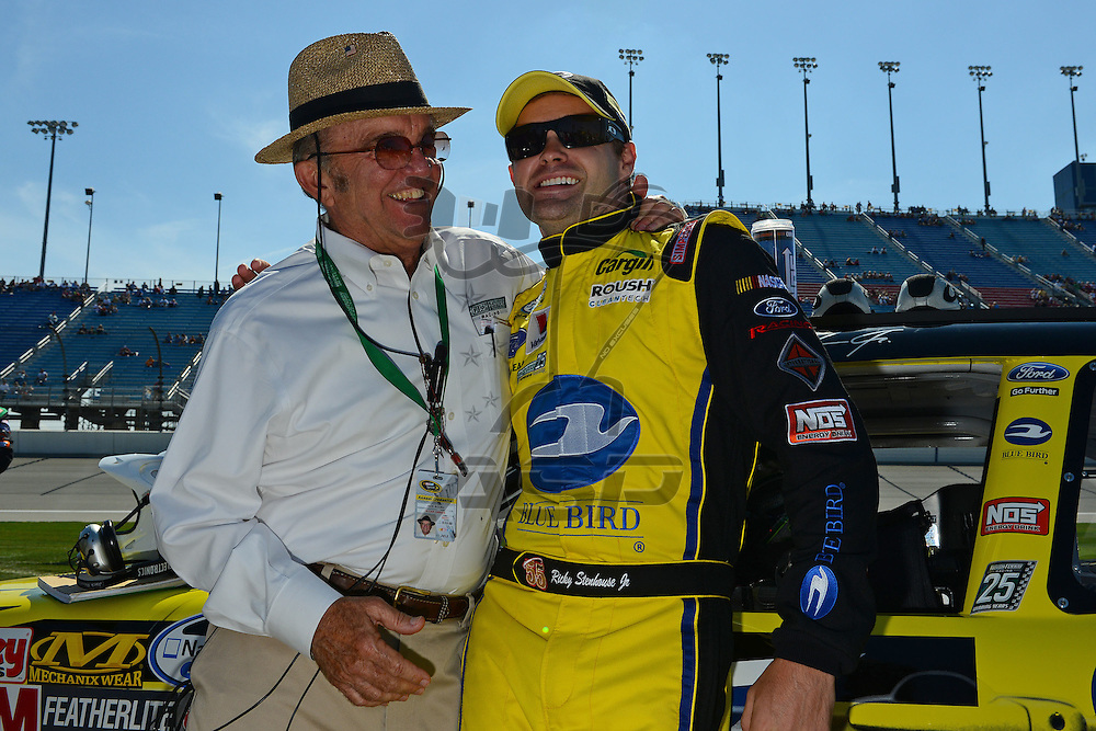 Joliet,Il - Sep 15, 2012: Ricky Stenhouse, Jr. (6) and Jack Roush stands by his car before the race for the Dollar General 300 at Chicagoland Speedway in Joliet, Il.