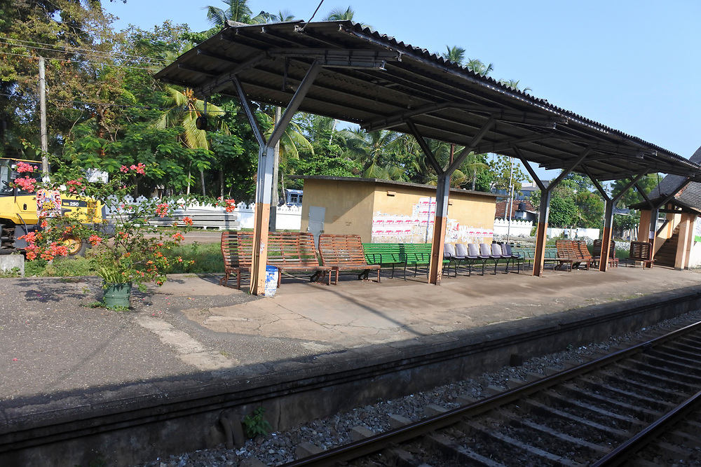 Rail platform in Sri Lanka