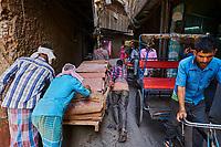 Inde, Delhi, vieux Delhi, ruelle de la vieille ville // India, Delhi, Old Delhi, narrow street in old Delhi
