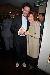 JACKIE MEAKIN the Duchess of Cornwall's dresser and MARCO PIERRE WHITE at the launch of Tom Parker Bowles's new book 'Full English' held in the Gallery Restaurant, Selfridges, Oxford Street, London on 9th September 2009.