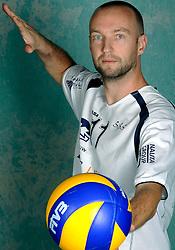 08-10-2009 VOLLEYBAL: PHOTOSHOOT SSS: BARNEVELD<br /> Photoshoot SSS A League seizoen 2009 - 2010 / Erik Schuil<br /> ©2009-WWW.FOTOHOOGENDOORN.NL