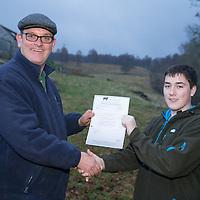 Aberdeen Angus Cattle Society heifer presenation