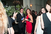 KELLY BROOK; DANNY CIPRIANI, Dinner to mark 50 years with Vogue for David Bailey, hosted by Alexandra Shulman. Claridge's. London. 11 May 2010 *** Local Caption *** -DO NOT ARCHIVE-© Copyright Photograph by Dafydd Jones. 248 Clapham Rd. London SW9 0PZ. Tel 0207 820 0771. www.dafjones.com.<br /> KELLY BROOK; DANNY CIPRIANI, Dinner to mark 50 years with Vogue for David Bailey, hosted by Alexandra Shulman. Claridge's. London. 11 May 2010