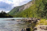 Norway, Vågå, Ottadalen. Otta River.