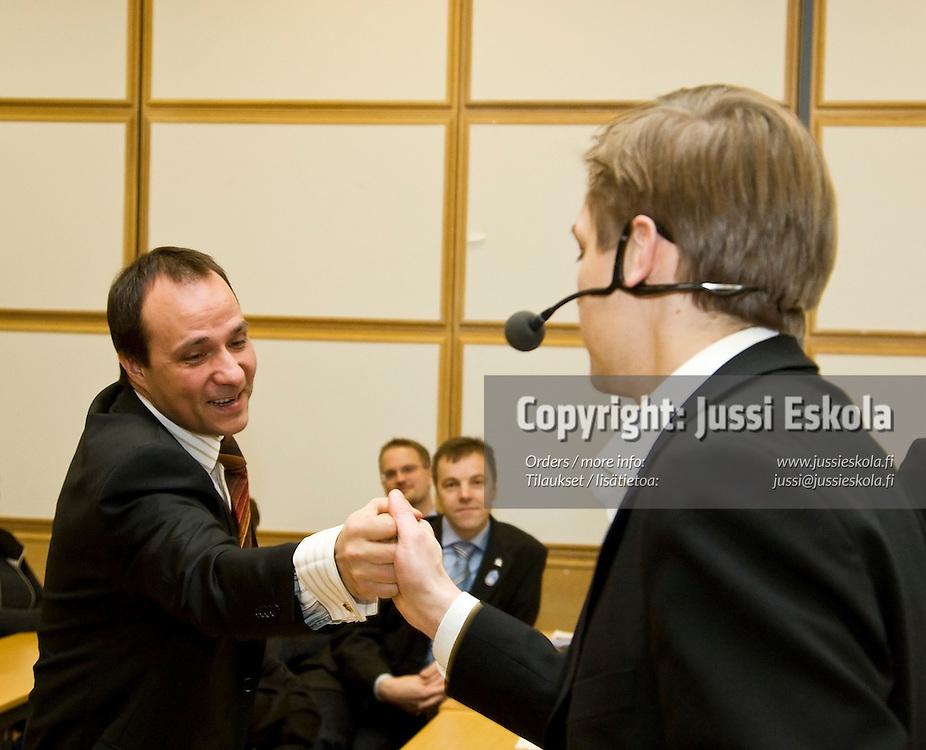 Jan Walden, Kimmo J. Lipponen. Vision 2020. 28.1.2008. Photo: Jussi Eskola