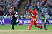 Ben Duckett Celebrates the Wicket of Liam Livingstone during the NatWest T20 Blast final match between Northants Steelbacks and Lancashire Lightning at Edgbaston, Birmingham, United Kingdom on 29 August 2015. Photo by David Vokes.