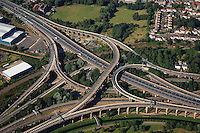 """""""Spaghetti Junction"""" is a nickname sometimes given to a complicated or massively intertwined road traffic interchange that resembles a plate of spaghetti. The term was originally used to refer to the Gravelly Hill Interchange on the M6 motorway in Birmingham. http://en.wikipedia.org/wiki/Spaghetti_Junction"""