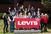 Levi Strauss & Co. Shoes and Accessories team members pose for a yearbook portrait at Levi & Strauss, Co. in San Francisco, California, on June 22, 2016. (Stan Olszewski/SOSKIphoto)