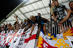 Fans of Birmingham City at 2nd Round of Europe League football match between NK Maribor (Slovenia) and Birmingham City (England), on September 29, 2011, in Maribor, Slovenia.  (Photo by Urban Urbanc / Sportida)