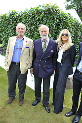 Left to right, MR MARK SHAND, HRH PRINCE MICHAEL OF KENT and CLARISSA NADLER at a luncheon hosted by Cartier for their sponsorship of the Style et Luxe part of the Goodwood Festival of Speed at Goodwood House, West Sussex on 1st July 2012.