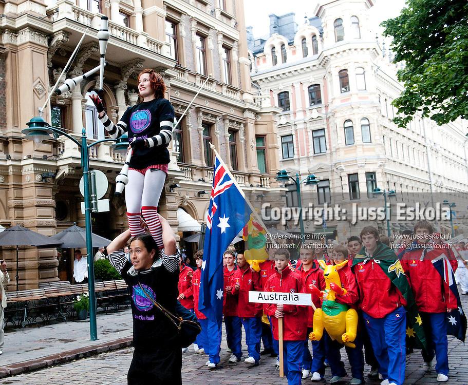 Helsinki Cupin avajaiset, 5.7.2009. Photo: Jussi Eskola