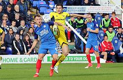 Ricky Miller of Peterborough United battles with John Mousinho of Oxford United - Mandatory by-line: Joe Dent/JMP - 30/09/2017 - FOOTBALL - ABAX Stadium - Peterborough, England - Peterborough United v Oxford United - Sky Bet League One